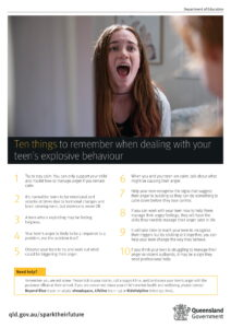 Ten things to remember when dealing with your teen's explosive behaviour