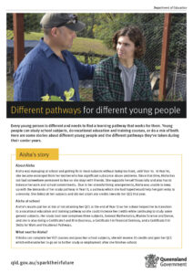 Image - Fact sheet - Different pathways for different young people