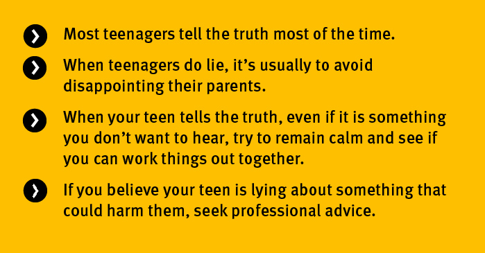 Key points why teens lie