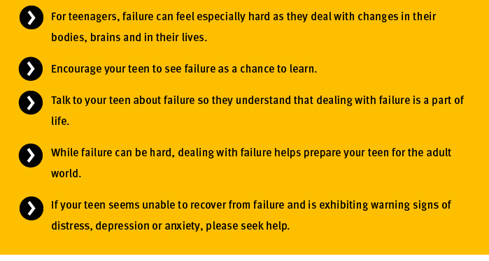 Learn from failure key points